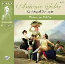 PIETER-JAN BELDER - SOLER-KEYBOARD SONATAS VOL.3 2 CD NEU SOLER,PADRE ANTONIO