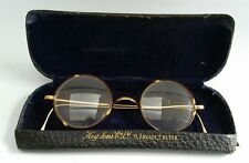 Vintage Tortoiseshell & Gold 1/10 10ct Spectacles Reading Glasses Case Steampunk