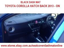 DASH MAT, DASHMAT, DASHBOARD COVER FIT TOYOTA COROLLA HATCH BACK 2013 -ON BLACK