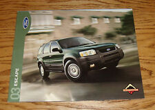Original 2003 Ford Escape Sales Brochure 03 XLS XLT Limited