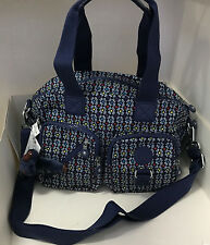 KIPLING DEFEA CONVERTIBLE SLING CROSSBODY BAG PURSE SATCHEL BLUE WONDERWALL RED