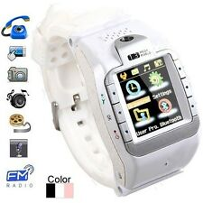 "Touch Screen Watch Mobile Phone Support Camera with 1.3"" Inch Display & Quadband"