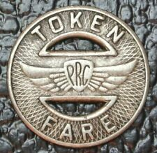 1920s Pittsburgh Railways Co Transit Trolley Streetcar Token SILVER WINGS PRC