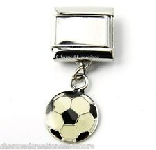 DIY Custom Photo Soccer Ball 9mm Italian Charm Stainless Modular Dangle Link