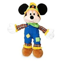 MICKEY MOUSE HALLOWEEN PLUSH NWT SCARECROW COSTUME AUTHENTIC DISNEY STORE PATCH