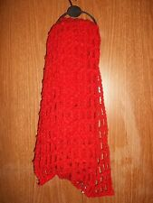 NWT~LUCKY BRAND WOMEN'S CHUNKY CROCHET SCARF~RED