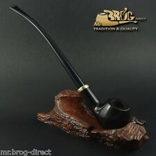 "OUTSTANDING Mr.Brog original smoking pipe nr.14 BLACK SW "" CHURCHWARDEN """
