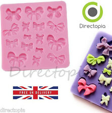 Silicone Bow Design Fondant Sugar Paste Cake Decorating Mould Gift Present