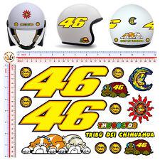 adesivi casco vale rossi 46 tribu dei chihuahua sticker helmet tuning 15 pz.