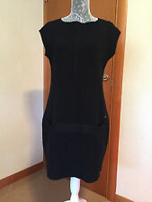 (1) Chanel CC Women's Cashmere Black Sleeveless Dress Clothes - Size 42 - Italy