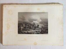 GRAVURE THIERS BATAILLE DE FUENTES D'ONORO 1861 NAPOLEON TRES BON ETAT