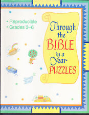 Through the Bible in a Year : Puzzles for Grades 3-6 (1994, Paperback)