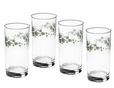 Corelle 4 CALLAWAY IVY 16-oz GLASS GLASSES * Green Leaf Iced Tea Drink TUMBLERS