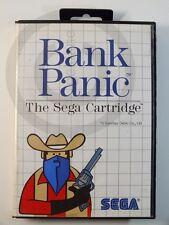 !!! SEGA MASTER SPIEL Bank Panic OVP, gebraucht aber GUT !!!