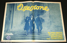 manifesto 1/2F film OSSESSIONE Luchino Visconti Girotti Calamai De Landa 1943
