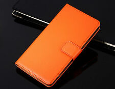 Genuine Leather Wallet Flip Case Cover For HTC One X