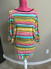 Trina Turk Summer Dress Size P XS-S Green Pink Yellow