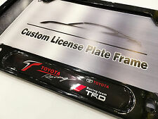 2PC Satin Black License Plate Frame for TOYOTA RACING TRD Scion Lexus Echo IS300