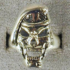 DELUXE MILTARY SPECIAL FORCES SKULL VAMPIRE SILVER BIKER RING BR124 RINGS  NEW
