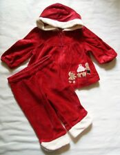 Gymboree Gingerbread Girl Red Velour Top & Pants, Size 6-12months
