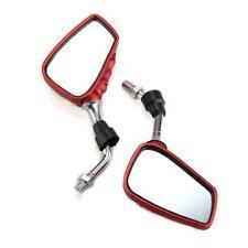 2 x Retrovisor Espejo Mirror Rojo 10MM 8MM para Moto Honda