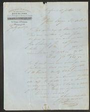 """HONFLEUR (14) SCIERIE / Fabrique de PARQUET """"DUBOURG & GOULLEY"""" Voyagée en 1866"""