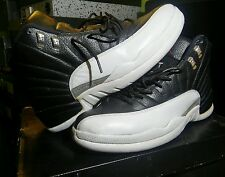 NIKE AIR JORDAN Retro Playoffs 2012 Blk/White Sneakers 130690 001 Shoes Size12