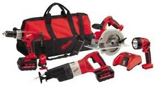NEW MILWAUKEE 0928-29 M28 28 VOLT CORDLESS 4 TOOLS DRILL SAWS COMBO DELUXE KIT
