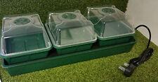 3 Bay electric Heated Propagator HD trays and lids seed propagator greenhouse