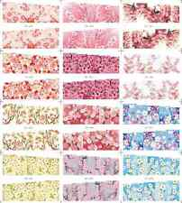 12 Sheets/Lot Latest Cherry Blossoms Water Nail Art Stickers Decals #589-600