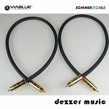 2x 1m Cinch-Kabel STRATOS Sommer Cable NF/Phonokabel 1,00 High End...Erstklassig