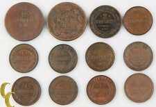 1812-1912 Russia 1 & 2 Kopek Lot (12 coins) Empire Kopeck C#118 Y#9.2 10.2