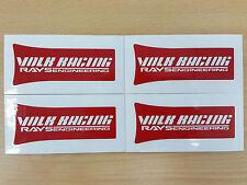 JDM New 4pc Sticker Decals 16 inch Rims Wheels Rays Volk Racing TE37 SL ~Red