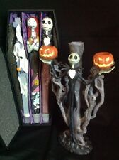 Disney Nightmare Before Christmas Iron Candelabra Candlestick Holder W/ Candle S