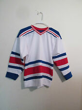 Vintage BLank New York Rangers NHL Youth Jersey size  Small  Made USA
