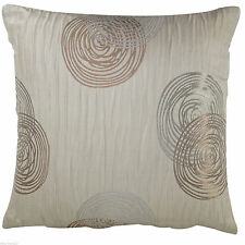 """Cushion Cover Sofa, Pack of 4 x Traditional Spiral Golden Beige Crinkle 18"""" Inch"""