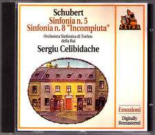 Sergiu CELIBIDACHE: SCHUBERT Symphony No.5 & 8 Unfinished Live 1970 Torino CD