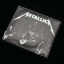 New Thrash Metal Metallica Leather Wallet Cool Fashion Cartoon Two-Fold Purse