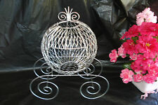 Silver Wire Cinderella Carriage for Wedding or Birthday Centerpiece