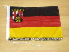 Fahnen Flagge Rheinland Pfalz Bootsfahne Tischwimpel - 30 x 45 cm