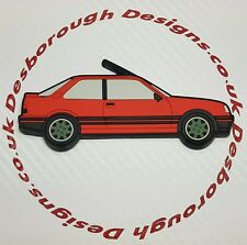 Peugeot 309 Gti fridge magnets , Cherry Red Goodwood Wheels