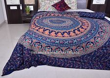 Elephant Mandala Handmade Duvet Covers Indian Throw Quilt Cover Bedding Decor