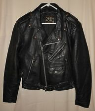 Vtg Motorcycle Leather Jacket Open Road Classic Biker Style 42