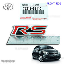 """RS"" Logo Badge Grille Emblem Decal Genuine For Toyota Vitz Yaris Vios 2006-2013"