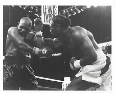 LENNOX LEWIS vs MIKE TYSON 8X10 PHOTO BOXING PICTURE HARD RIGHT BY LEWIS