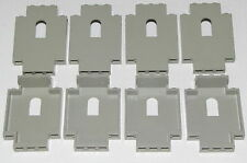 LEGO LOT OF 8 LIGHT GREY 2 X 5 X 6 CASTLE WALL PIECES WITH WINDOWS