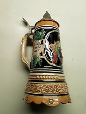 Beer Stein Vintage Mapsa German Music Swiss Musical Movement Antique mug