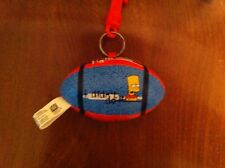 vintage The Simpsons plush football keychain Bart Simpson Nelson Smell Ya Later