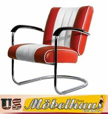 LC-01 Red/White Bel Air Möbel Swingstuhl Diner Wohnzimmer Sessel Relaxsessel USA
