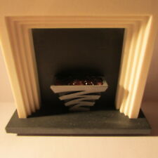 Fireplace and surround~Dolls House miniature~1/12 scale~ Art Deco
